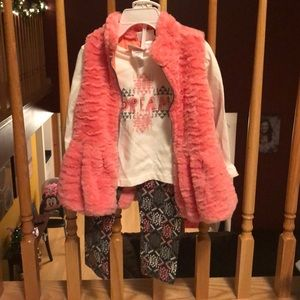 NWT Girls 2T 3 piece outfit Little Lass HOLIDAYS